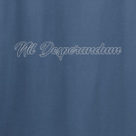 Buy Nil Desperandum No Despair No Worries Alternative Street Wear Indigo Blue Graphic Tee Shirt