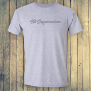 Nil Desperandum No Despair No Worries Alternative Street Wear Sport Grey Graphic Tee Shirt