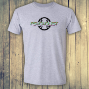 Psycholist Psycho Cyclist Tour Yorkshire France Lycra Lout Graphic Sport Grey Tee Shirt