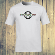 Psycholist Psycho Cyclist Tour Yorkshire France Lycra Lout Graphic Sport White Tee Shirt