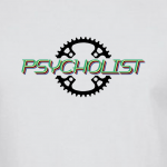 Buy Psycholist Psycho Cyclist Tour Yorkshire France Lycra Lout Graphic Sport White Tee Shirt