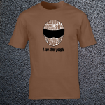 Buy Slow People Stig Petrol Head Power Graphic Chestnut Brown Tee Shirt