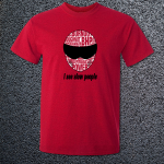 Buy Slow People Stig Petrol Head Power Graphic Red Tee Shirt