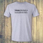 Buy Cockapoo Dog Funny Dictionary Quote Graphic Grey Tee Shirt