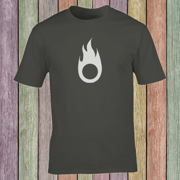 Buy Fire Symbol Tribal Tattoo Style Graphic T Shirt Charcoal Grey