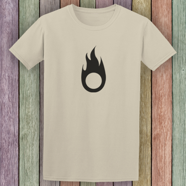 Buy Fire Symbol Tribal Tattoo Style Graphic T Shirt Sand