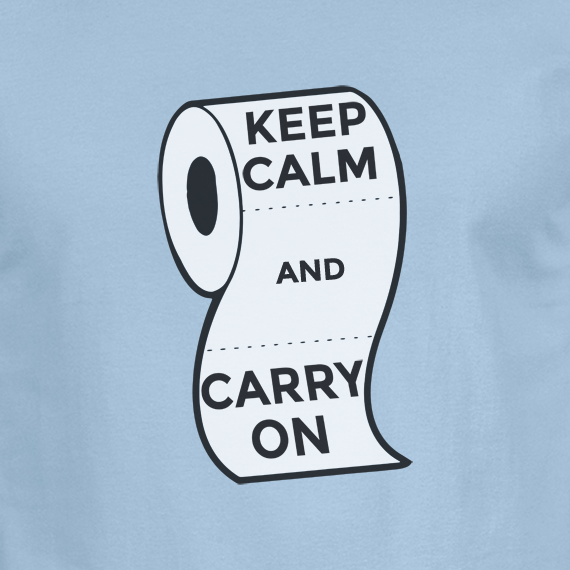 Buy Keep Calm and Carry On Virus Toilet Funny Graphic Blue T Shirt