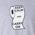 Buy Keep Calm and Carry On Virus Toilet Funny Graphic Grey T Shirt