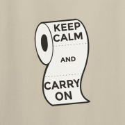 Keep Calm and Carry On Virus Toilet Funny Graphic Sand T Shirt
