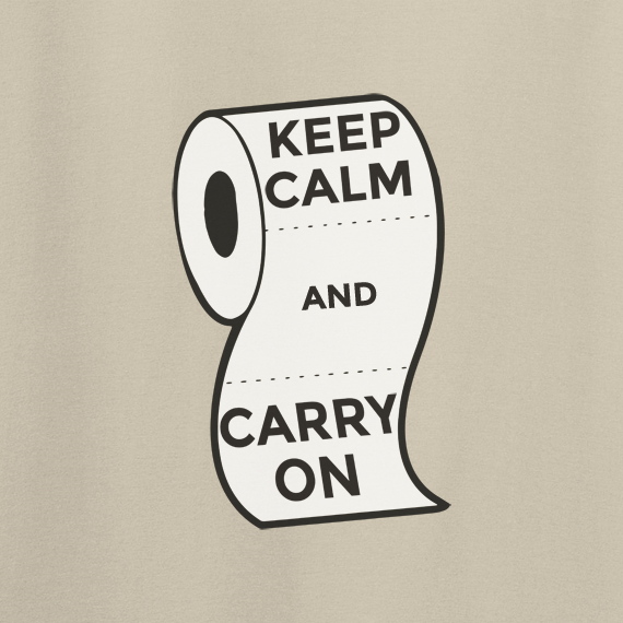Buy Keep Calm and Carry On Virus Toilet Funny Graphic Sand T Shirt