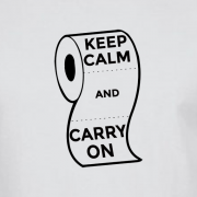 Keep Calm and Carry On Virus Toilet Funny Graphic White T Shirt