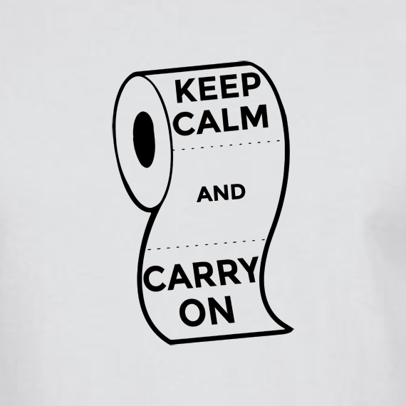 Buy Keep Calm and Carry On Virus Toilet Funny Graphic White T Shirt