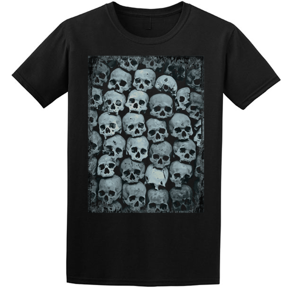 Buy Skull Crypt Emo Goth Black Graphic T Shirt