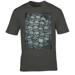 Buy Skull Crypt Emo Goth Charcoal Grey Graphic T Shirt