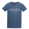 Buy Inked Tattoo Arch of Skulls indigo blue graphic t shirt