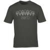 Buy Inked Tattoo Arch of Skulls charcoal grey graphic t shirt