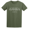 Buy Inked Tattoo Arch of Skulls olive green graphic t shirt